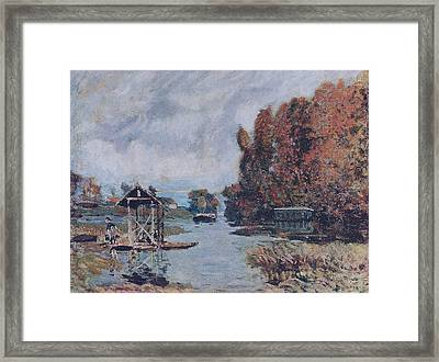 Laundry Houses At Bougival Framed Print by MotionAge Designs