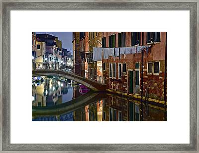 Laundry Night Framed Print by Frozen in Time Fine Art Photography