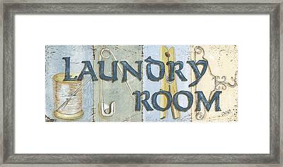 Laundry Room  Framed Print by Debbie DeWitt