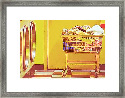 Laundry Time Framed Print by Isabel Medina