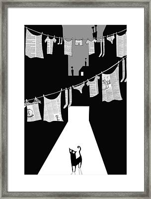 Laundry Framed Print by Andrew Hitchen