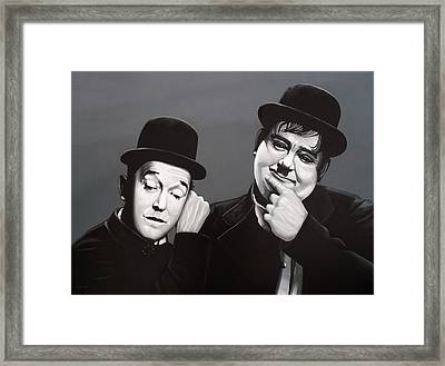 Laurel And Hardy Framed Print by Paul Meijering