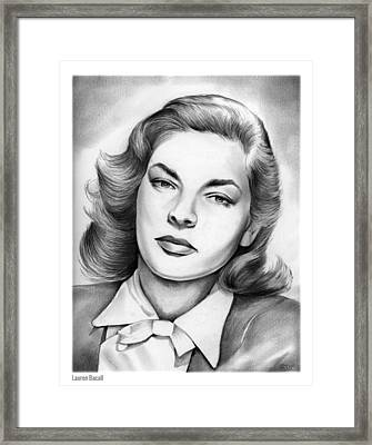 Lauren Bacall Framed Print by Greg Joens
