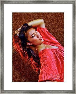 Lauren Quirarte Beauty Framed Print by Blake Richards