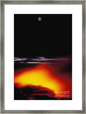 Lava And Moon Framed Print by William Waterfall - Printscapes