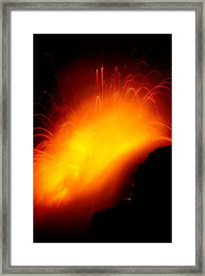 Lava And Steam Framed Print by Peter French - Printscapes