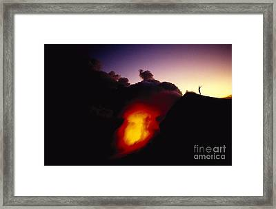 Lava At Dawn Framed Print by Ron Dahlquist - Printscapes