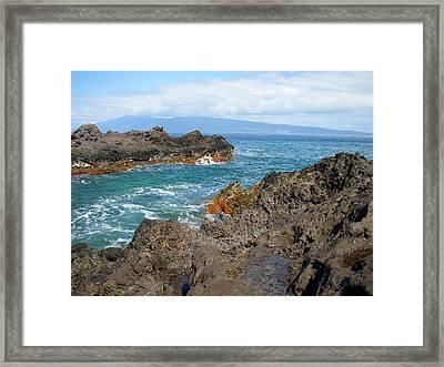 Lava Coastline - West Maui Framed Print by Glenn McCarthy Art and Photography