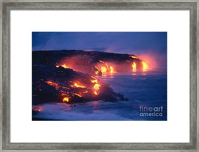 Lava Flow Framed Print by Peter French - Printscapes