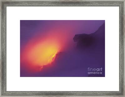 Lava Meets The Sea Framed Print by William Waterfall - Printscapes
