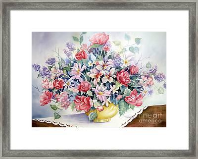 Lavendar And Lace Framed Print by Deborah Ronglien