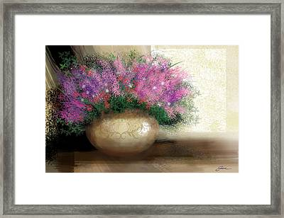Lavender Bouquet Framed Print by Harold Shull