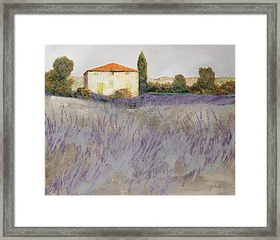 Lavender Framed Print by Guido Borelli