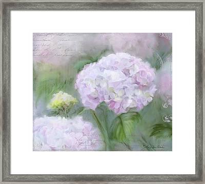 Lavender Hydrangea Romantic Garden Framed Print by Audrey Jeanne Roberts