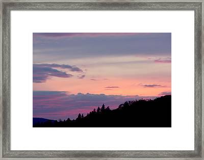 Lavender Skies Framed Print by Nick Gustafson