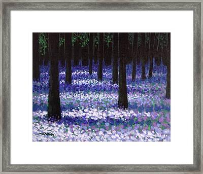 Lavender Woodland Framed Print by John  Nolan