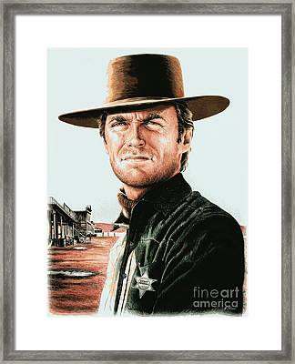 Law And Order Pop Edit Framed Print by Andrew Read