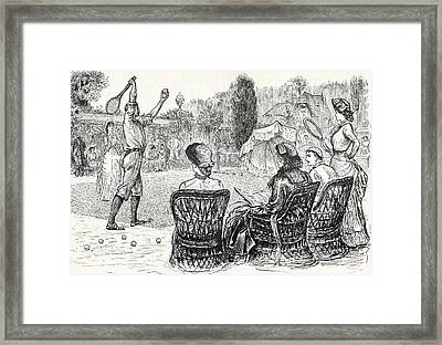 Lawn Tennis In 1883 Engraved From The Framed Print by Vintage Design Pics