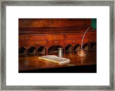 Lawyer  - The Written Law  Framed Print by Mike Savad
