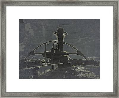 Lax Grey Framed Print by Naxart Studio