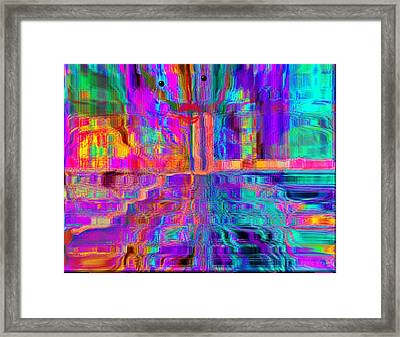 Lay The Colors Down Framed Print by Fania Simon