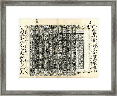 Layers Of Calligraphy Framed Print by Carol Leigh