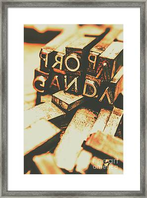 Layers Of Lies Framed Print by Jorgo Photography - Wall Art Gallery