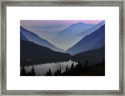 Layers Of Serenity Framed Print by Mike Lang