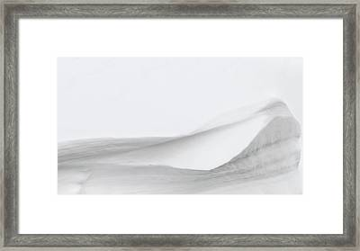 Layers Of Snow Framed Print by Wim Lanclus