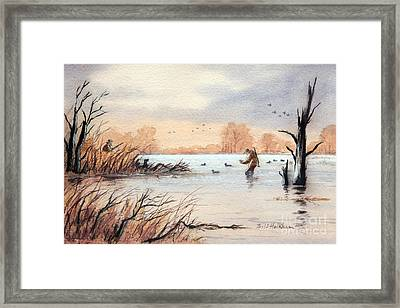 Laying Out The Decoys I Framed Print by Bill Holkham