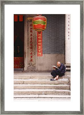 Lazy Day In Hong Kong Framed Print by Sandra Bronstein