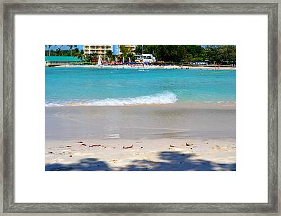 Lazy Waves Framed Print by Malcolm Scott