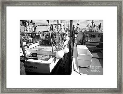 Lbi Fishing Boats Infrared Framed Print by John Rizzuto