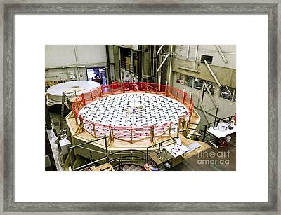Lbt2 Mirror Construction, Steward Framed Print by Inga Spence