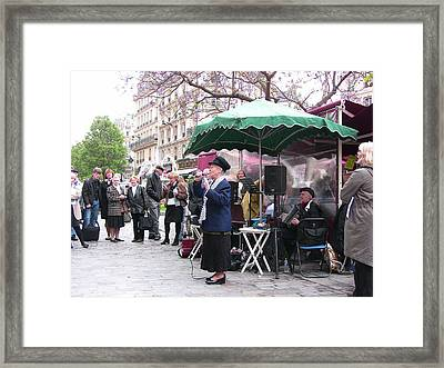 Le Avenue Mouffetard Framed Print by Lori  Secouler-Beaudry