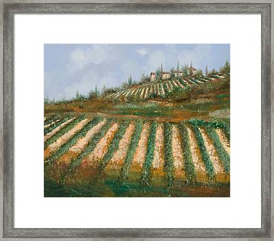 Le Case Nella Vigna Framed Print by Guido Borelli