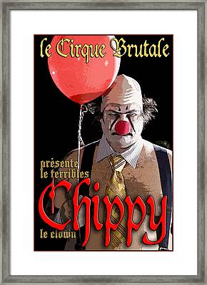 Le Cirque Brutale Chippy Framed Print by H James Hoff