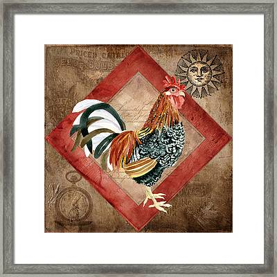 Le Coq - Greet The Day Framed Print by Audrey Jeanne Roberts