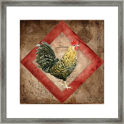 Le Coq - Morning Call Framed Print by Audrey Jeanne Roberts