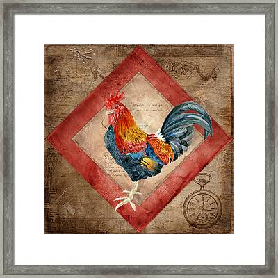 Le Coq - Timeless Rooster  Framed Print by Audrey Jeanne Roberts