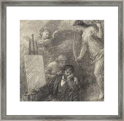 Le Decouragement De L'artiste Framed Print by Henri Fantin-Latour