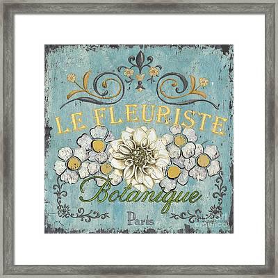 Le Fleuriste De Botanique Framed Print by Debbie DeWitt