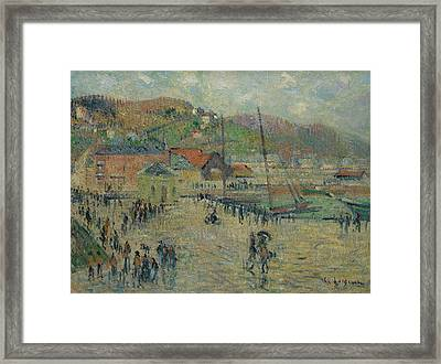 Le Grand Quai Framed Print by Gustave Loiseau