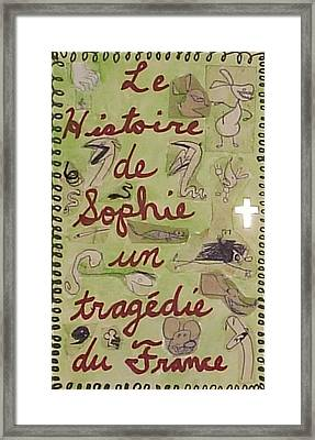 Le Histoire De Sophie Un Tragedie Du France Framed Print by William Douglas