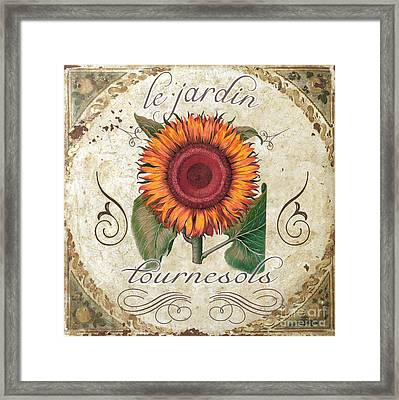 Le Jardin Tournesols  Framed Print by Mindy Sommers