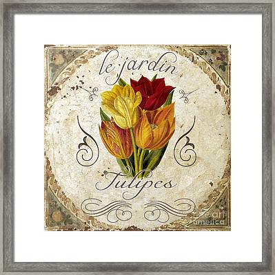 Le Jardin Tulipes Framed Print by Mindy Sommers