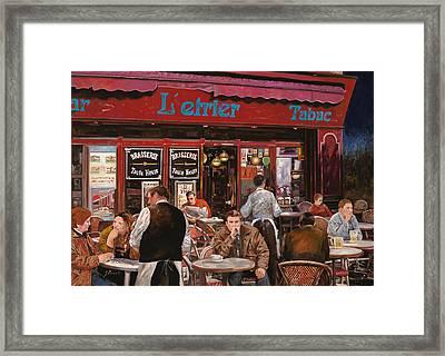 Le Mani In Bocca Framed Print by Guido Borelli
