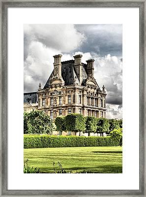 Le Musee Du Louvre Framed Print by Greg Sharpe
