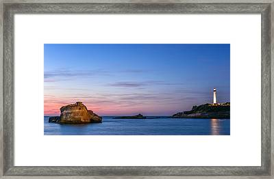Framed Print featuring the photograph Le Phare De Biarritz by Thierry Bouriat