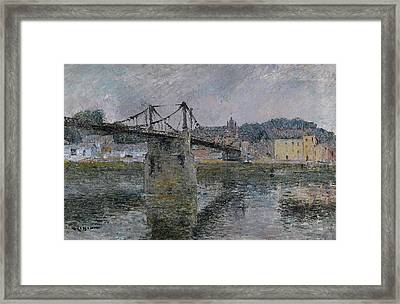 Le Pont Delbeuf Framed Print by MotionAge Designs